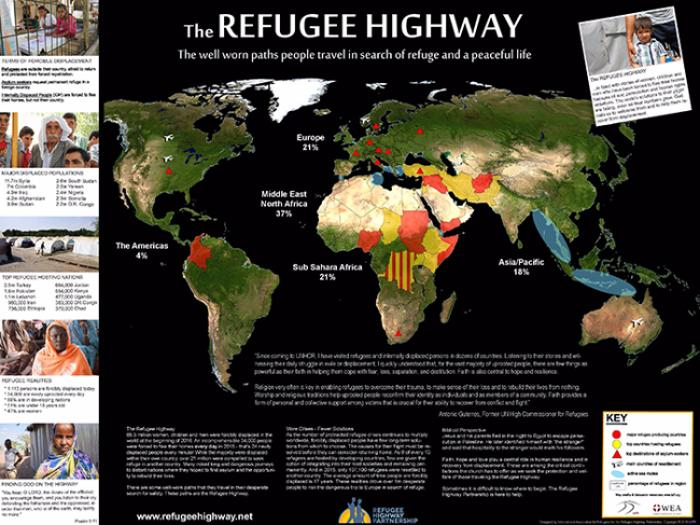 Map of the Refugee Highway (updated summer 2016)